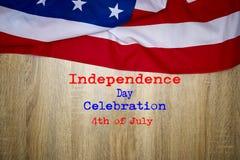 Fundo de madeira da bandeira americana Fotos de Stock Royalty Free