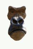 Fundo de madeira da cabeça do gorila Fotos de Stock Royalty Free
