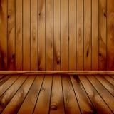 Parede e assoalho de madeira Imagens de Stock