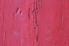 Fundo de madeira da pele da cor lisa vermelha Foto de Stock Royalty Free