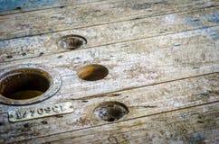 Fundo de madeira da roda Fotografia de Stock Royalty Free