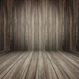 Fundo de madeira da sala de Brown imagem de stock