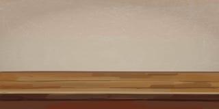 Fundo de madeira da tabela Ilustração do vetor Fotografia de Stock Royalty Free