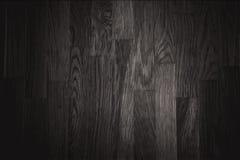 Fundo de madeira da textura da parede preta Fotografia de Stock Royalty Free