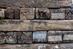 Fundo de madeira da textura do bloqueador do vintage velho Fotografia de Stock