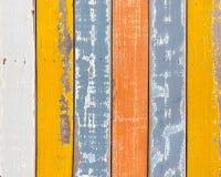 Fundo de madeira da textura do grunge abstrato com o colorfu velho da pintura Foto de Stock Royalty Free