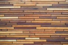 Fundo de madeira da textura do marrom da prancha Foto de Stock