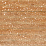 Fundo de madeira da textura na neve Fotos de Stock Royalty Free