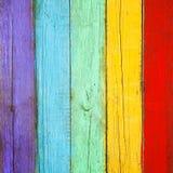 Fundo de madeira das pranchas da cor Imagens de Stock