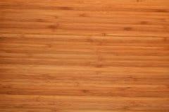 Fundo de madeira de bambu da placa da cozinha do corte Foto de Stock
