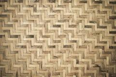 Fundo de madeira de bambu da textura do weave Fotografia de Stock Royalty Free