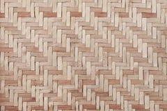 Fundo de madeira de bambu da textura do weave Imagem de Stock Royalty Free