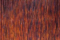 Fundo de madeira de bambu velho do vintage Foto de Stock Royalty Free