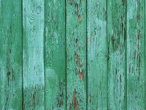 Fundo de madeira descascado verde Fotos de Stock