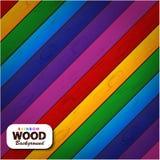 Fundo de madeira do arco-íris colorido Imagem de Stock