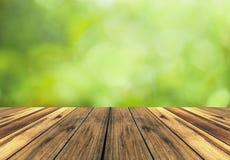 Fundo de madeira do assoalho e da mola Fotos de Stock