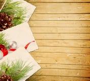 Fundo de madeira do Natal Imagens de Stock