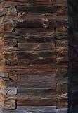 Fundo de madeira do painel Projeto de madeira da foto da configuração do plano da textura de Planked Imagens de Stock