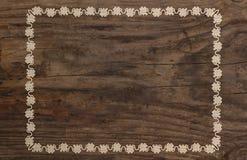 Fundo de madeira do quadro ornamentado do pensionista velho Fotos de Stock