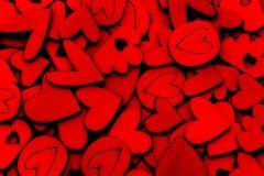 Fundo de madeira do sumário da forma do coração para o amor e romance concentrado Fotos de Stock