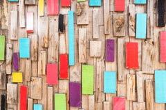 Fundo de madeira do teste padrão Fotografia de Stock Royalty Free