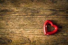 fundo de madeira do valentin Fotografia de Stock