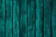 Fundo de madeira do verde da hortelã do vintage Placa verde resistida idosa Textura Teste padrão Imagem de Stock