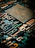 Fundo de madeira do vintage da letra Fotografia de Stock