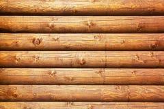 Fundo de madeira dos registros Imagens de Stock
