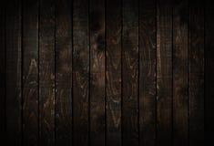Fundo de madeira escuro das pranchas Fotos de Stock Royalty Free