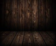 Fundo de madeira escuro das pranchas para o produto foto de stock royalty free