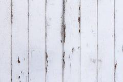 Fundo de madeira gasto pintado branco da textura Fotografia de Stock