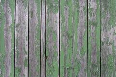 Fundo de madeira gasto Verde da cerca imagem de stock