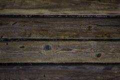 Fundo de madeira natural com hoarfrost Foto de Stock Royalty Free