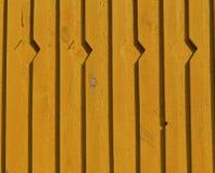 Fundo de madeira novo amarelo da parede da casa Foto de Stock Royalty Free
