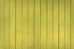 Fundo de madeira pintado amarelo Imagem de Stock Royalty Free