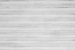 Fundo de madeira pintado branco da estrutura do vintage Fotos de Stock Royalty Free