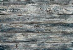 Fundo de madeira pintado cinzento-azul velho das pranchas do grunge Fotografia de Stock