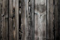 Fundo de madeira pintado cinzento marrom branco sujo e resistido velho da textura da prancha da parede do vintage marcado pela ex imagem de stock