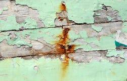 Fundo de madeira pintado velho Fotos de Stock