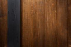 Fundo de madeira preto e marrom Imagens de Stock