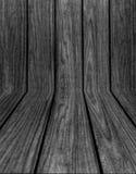 Fundo de madeira preto velho da textura do Grunge Imagens de Stock Royalty Free