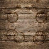 Fundo de madeira rústico com manchas fotos de stock