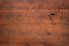 Fundo de madeira rústico das pranchas Foto de Stock