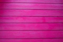 Fundo de madeira real cor-de-rosa da textura Imagem de Stock