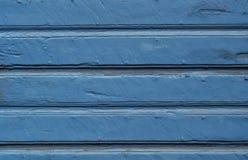 Fundo de madeira resistido pintado azul Fotos de Stock Royalty Free