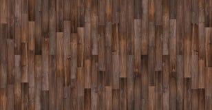 Fundo de madeira sem emenda da textura, textura de madeira escura panorâmico do assoalho Foto de Stock Royalty Free