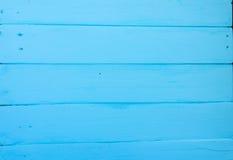 Fundo de madeira Textura, a superfície das placas idosas da madeira natural com máscaras diferentes da cor azul brilhante Imagens de Stock