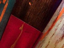 Fundo de madeira Textured colorido Fotos de Stock