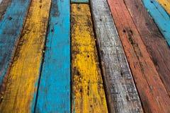 Fundo de madeira velho colorido foto de stock royalty free